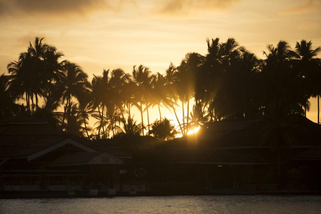 Lanka Princess - Moods Outside of Hotel -2014_LankaPrincess_Sunset_Palms