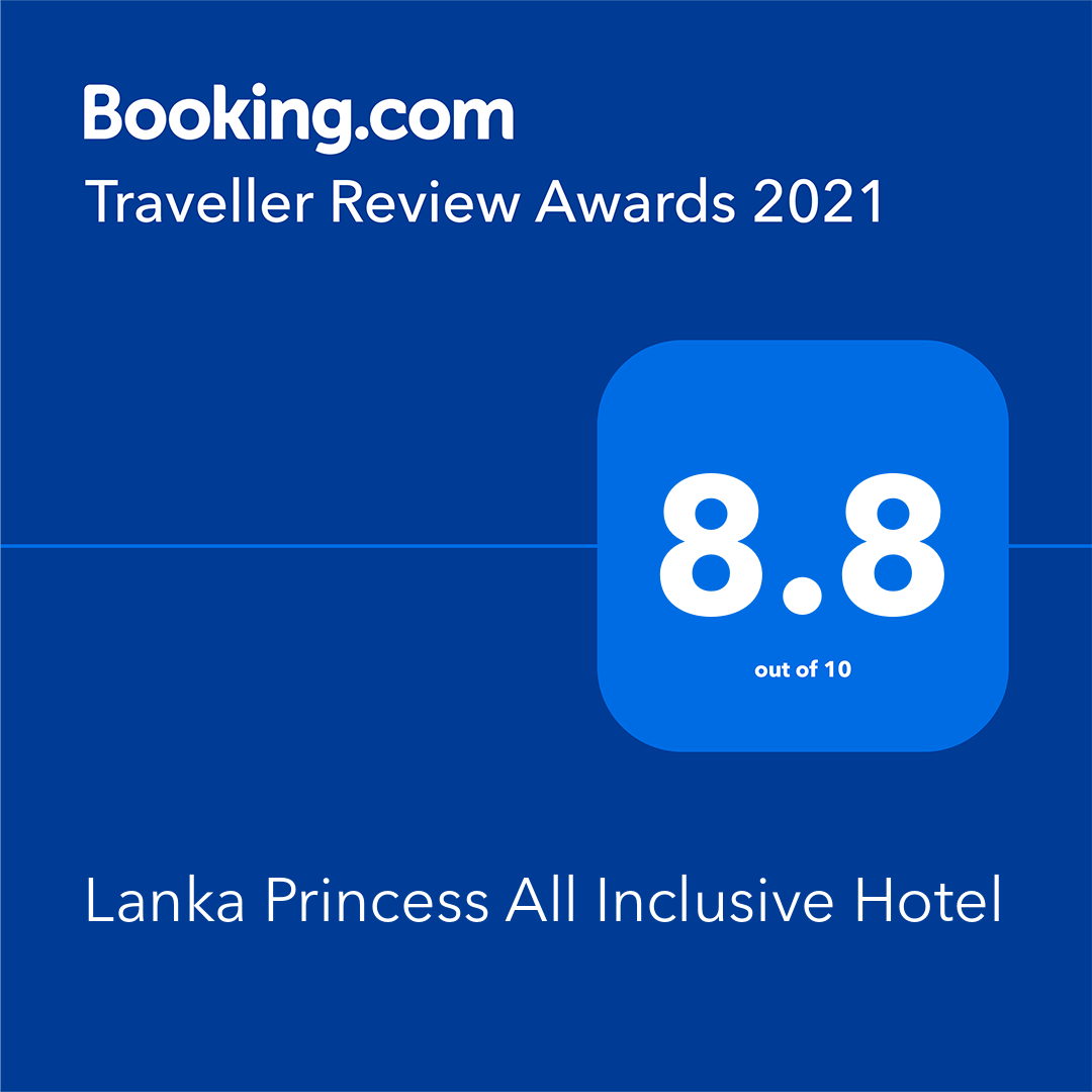 Booking.com Award 2021 - Lanka Princess